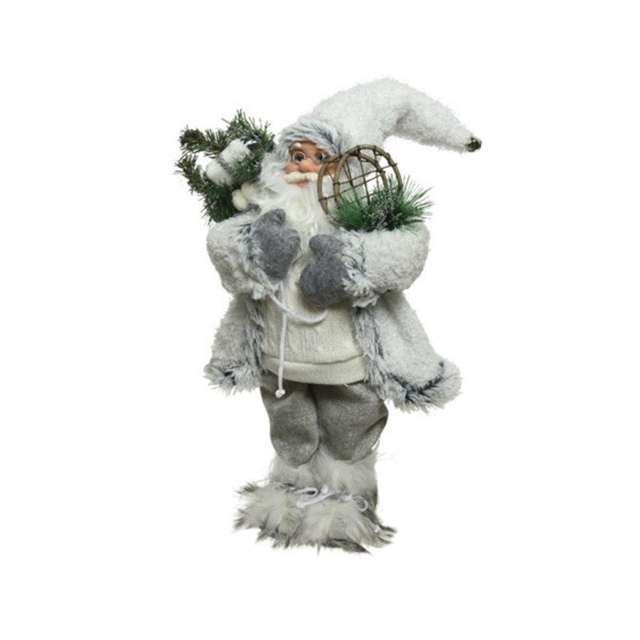 Kerstman 30cm wit m/sneeuwschoenen-1