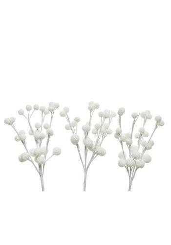 Decoris Hanger besneeuwde bessen wit 15cm  /3