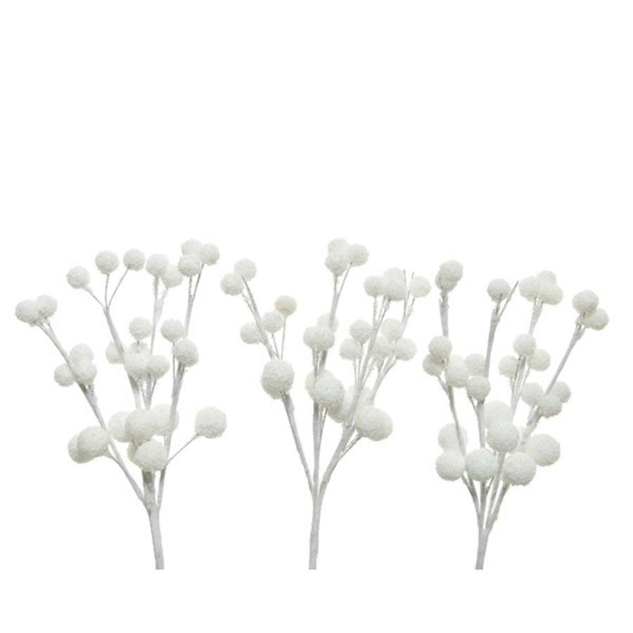 Hanger besneeuwde bessen wit /3-1