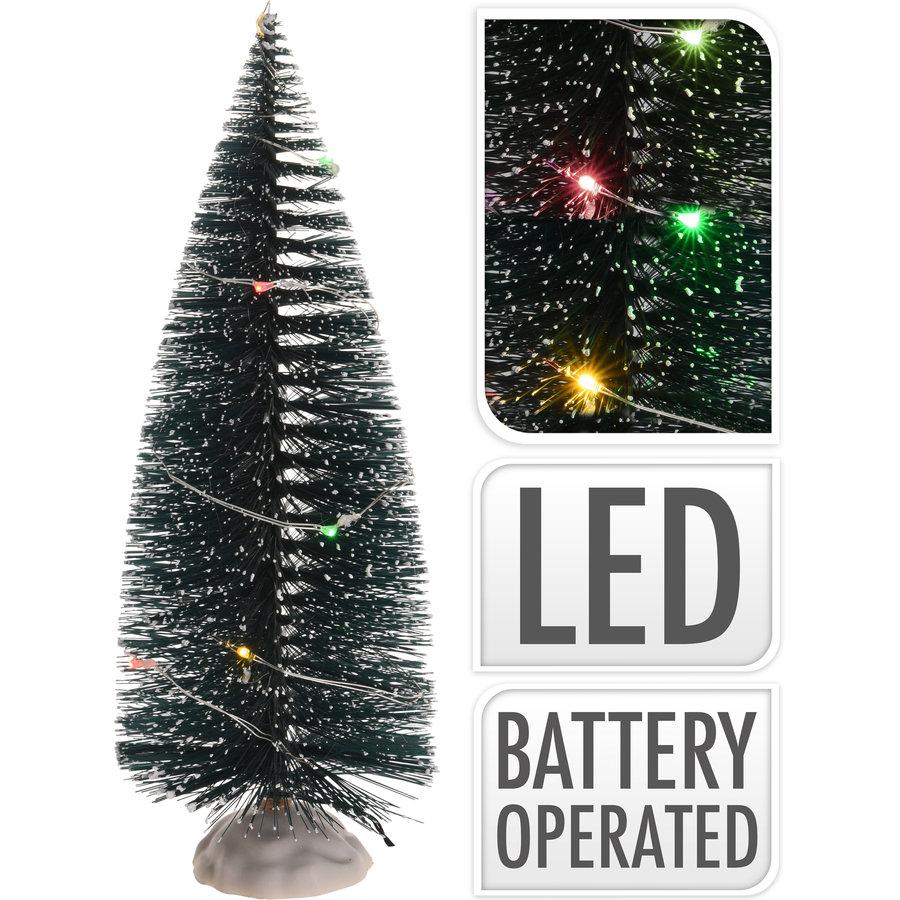 Kerstboom 22cm met 10 led multi-1