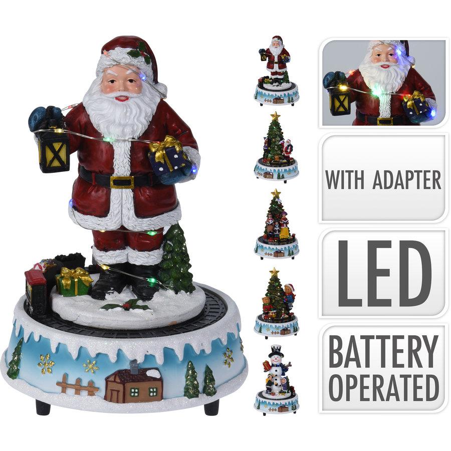 Kersttafereel met led 22cm multicolor-1