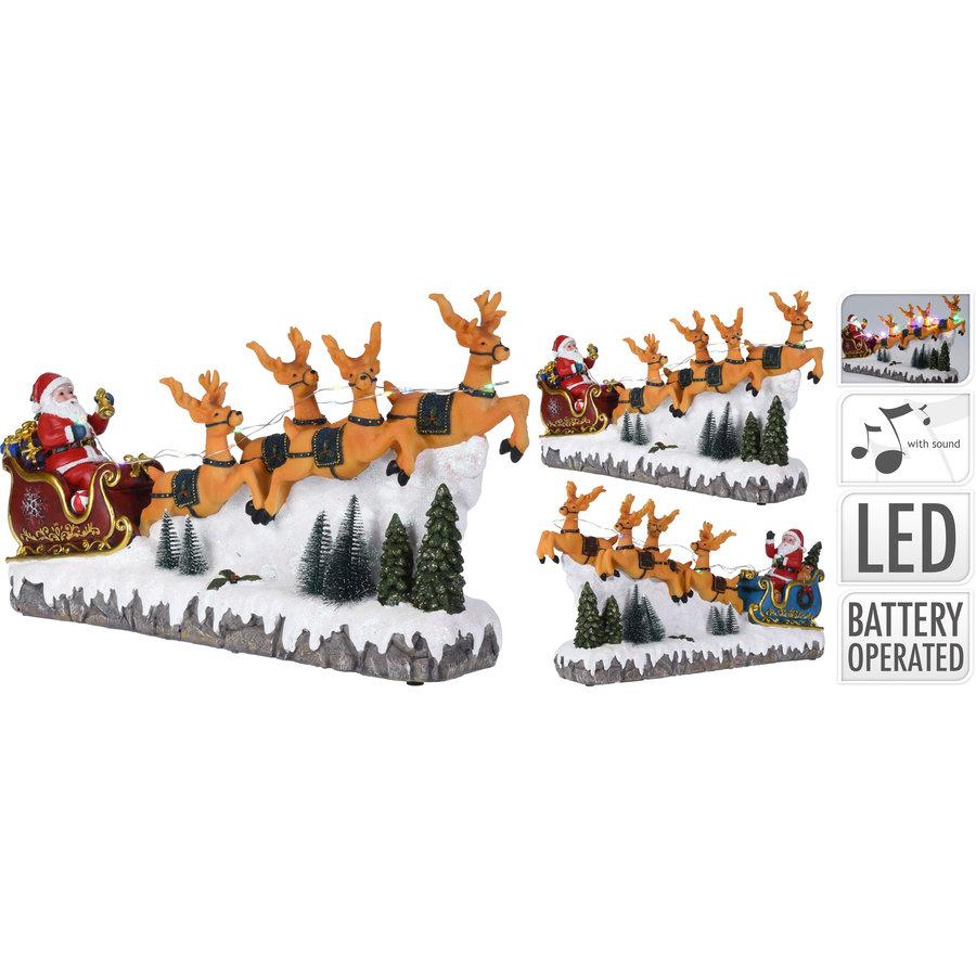 Kersttafereel  16 multicolor  led lights-1