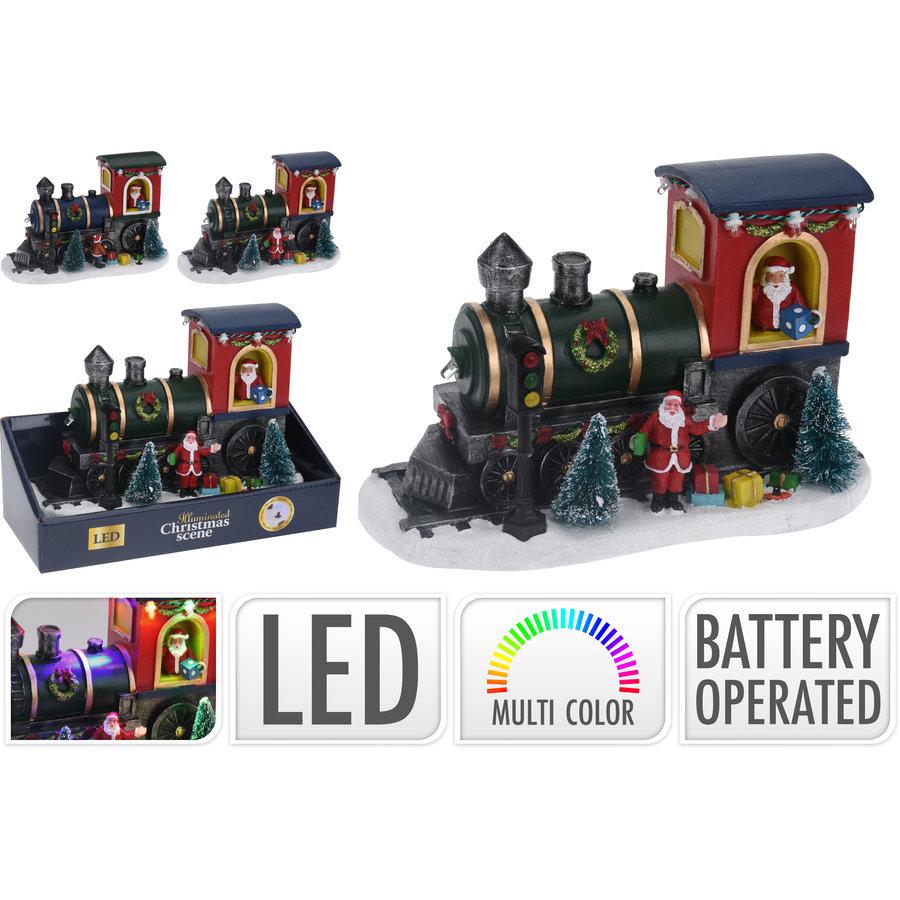 Kersttafereel trein led  22x13cm 6 multicolor lights-1