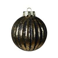 Kerstbal plastic 8cm antiek goud