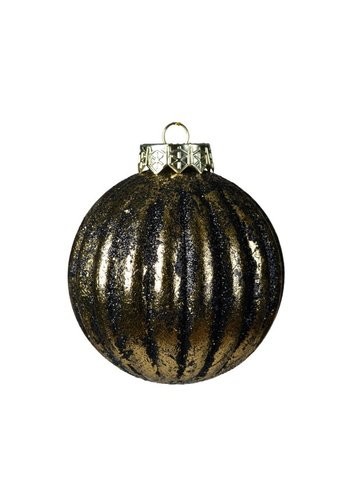 Decoris Kerstbal plastic 8cm antiek goud