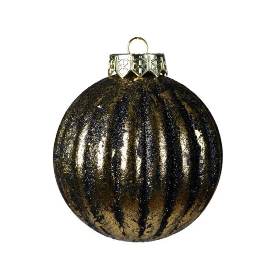 Kerstbal plastic 8cm antiek goud-1