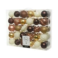 Kerstballen plastic mix /60