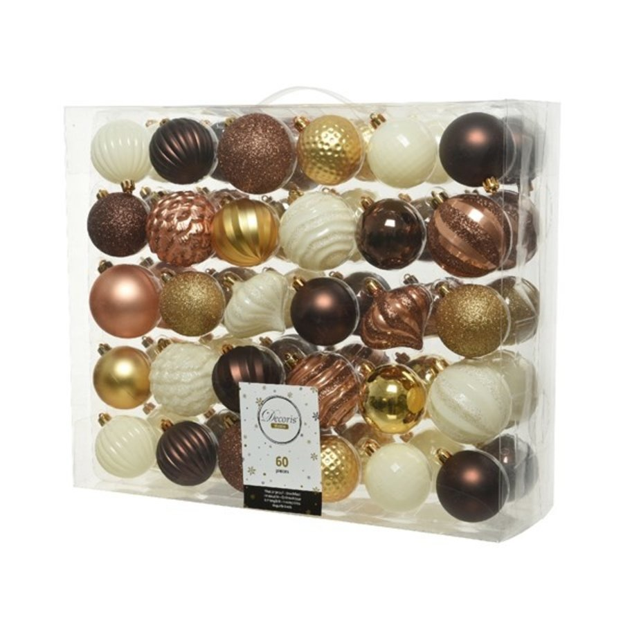 Kerstballen plastic mix /60-1