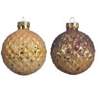 Kerstbal glas 8cm 2ass kleur /3