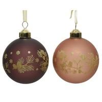 Kerstbal glas 8cm 2ass