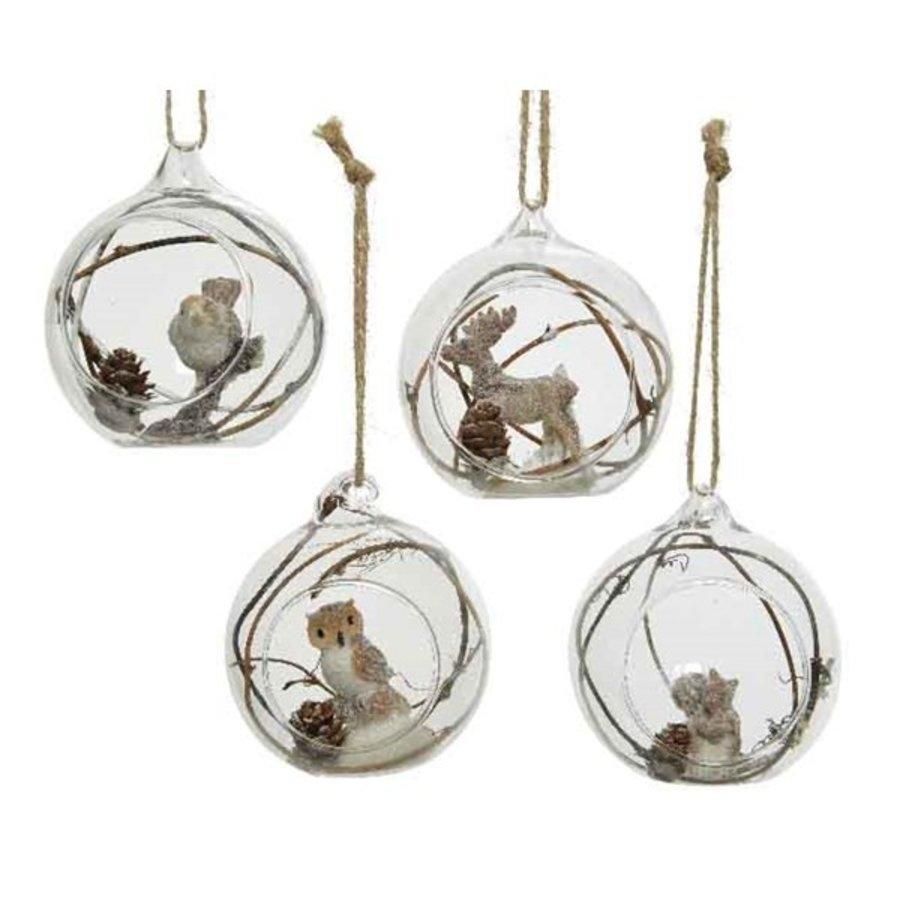 Glazen kerstbal met figuur dia 8cm-1