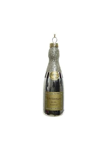 Decoris Champagne glas hanger goud 4x12.6cm