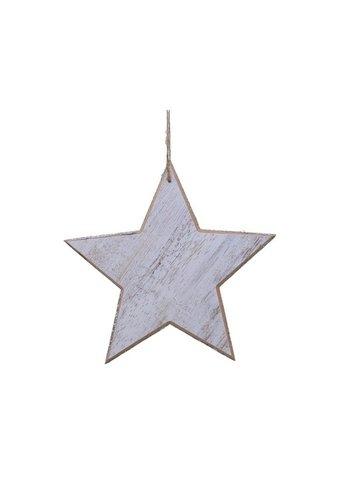 Decoris Ster met hanger 20cm