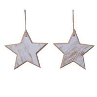 Set/2 sterren met hanger 12cm