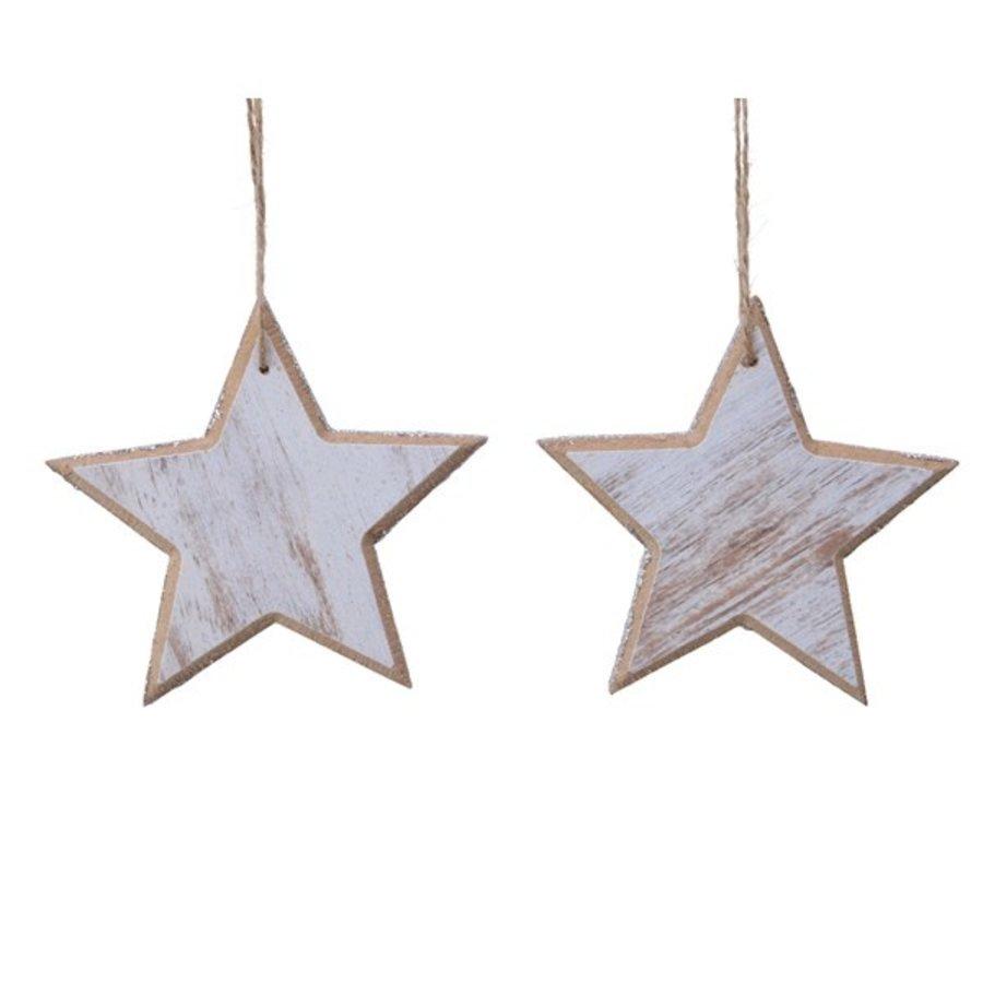 Set/2 sterren met hanger 12cm-1