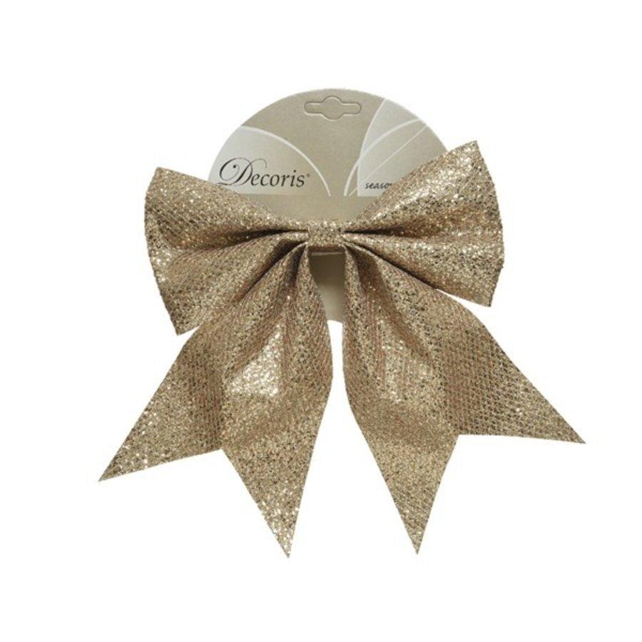 Strik polyester glitter champagnekleur-1
