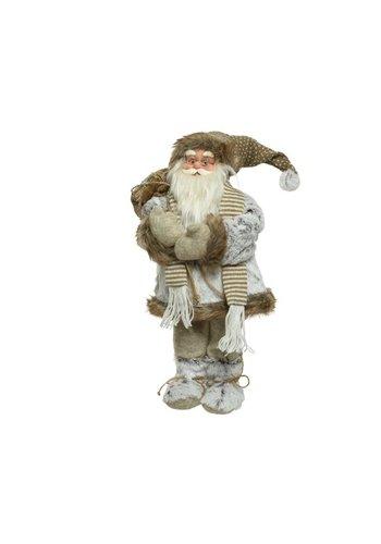 Decoris Kerstman met sjaal, 30cm