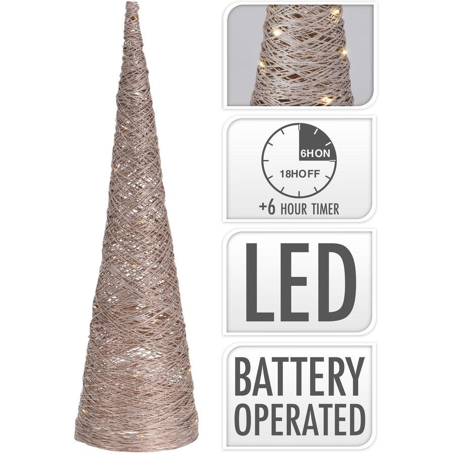 Cone met 30 led 60cm goud-1