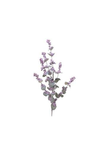Decoris Tak foam bessen 75cm lila