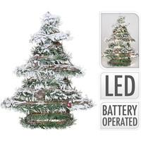 Kerstboom rotan met led 40cm