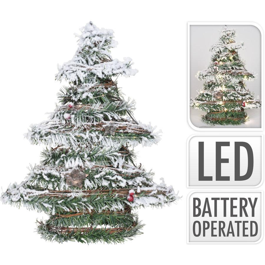 Kerstboom rotan met led 40cm-1
