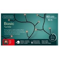 thumb-LED basic lights twinkle - black cable - Rood-2