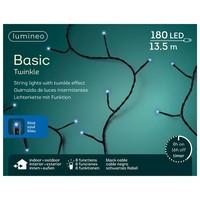 thumb-LED basic lights twinkle - black cable - Blauw-1