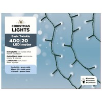 thumb-LED budget basic twinkle - green cable - Koel Wit-2