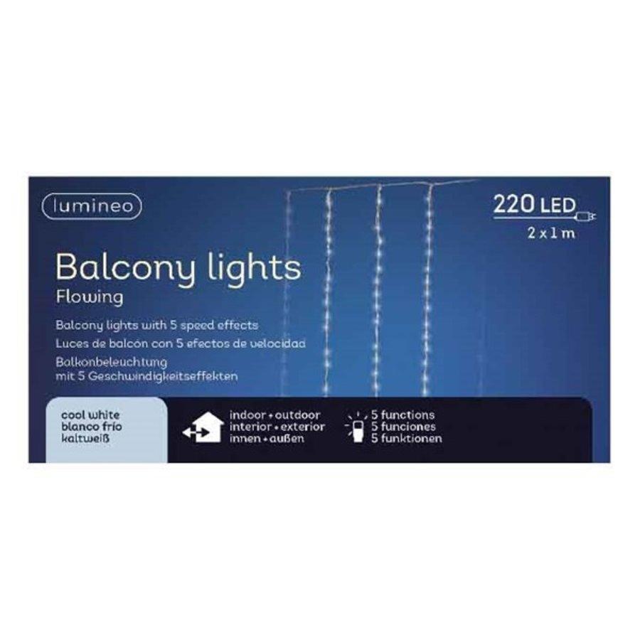 LED gordijnverlichting balkon - transparant - Koel Wit-1