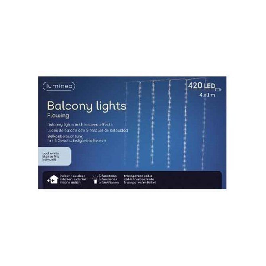 LED gordijnverlichting balkon - transparant - Warm Wit-1