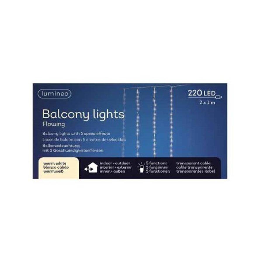 LED gordijnverlichting balkon - transparant - Warm Wit-3