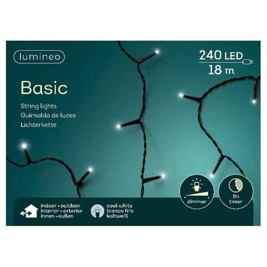LED basic lights - black cable - Koel wit-3