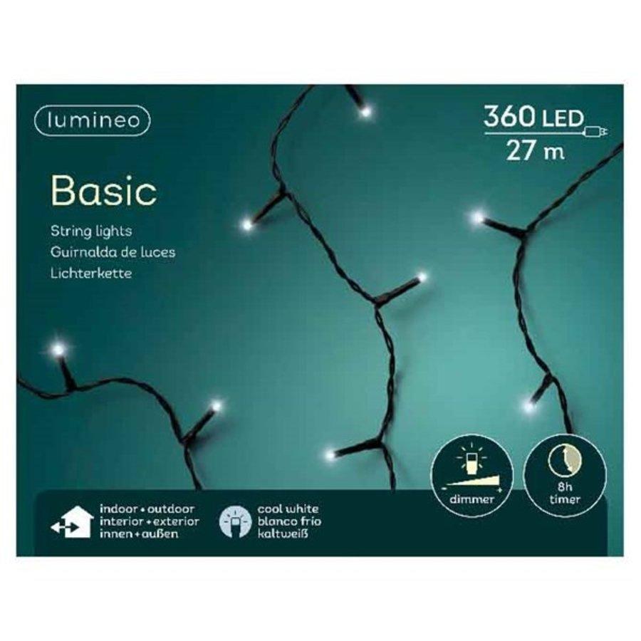 LED basic lights - black cable - Koel wit-1