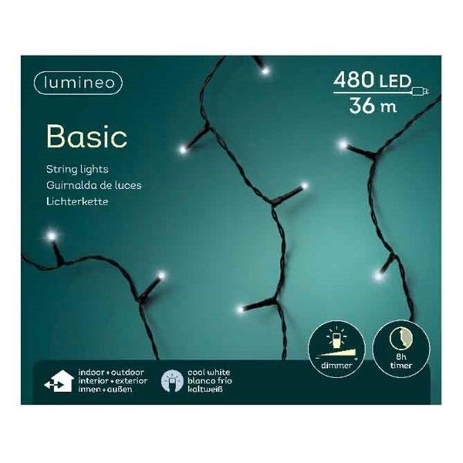 LED basic lights - black cable - Koel wit-4