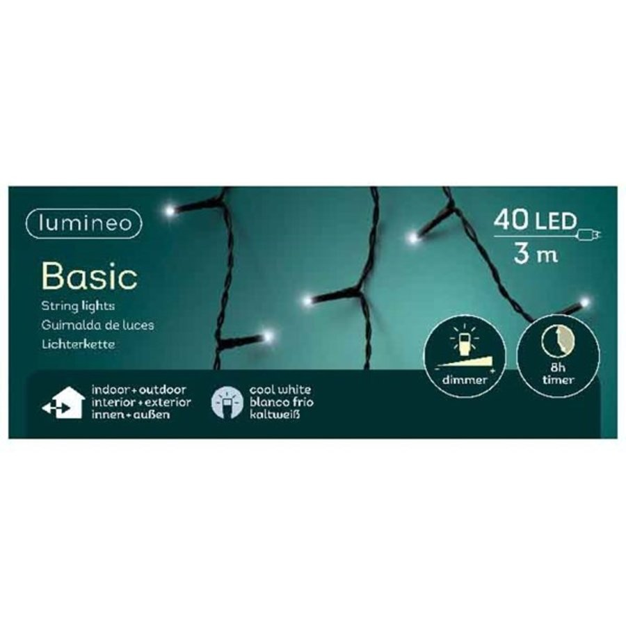LED basic lights - black cable - Koel wit-6