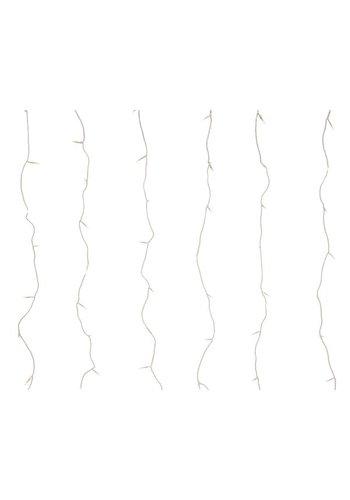 Lumineo LED curtain Twinkle - transparant - Warm Wit