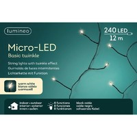 thumb-micro LED basic Twinkle - black wire - Warm Wit-1