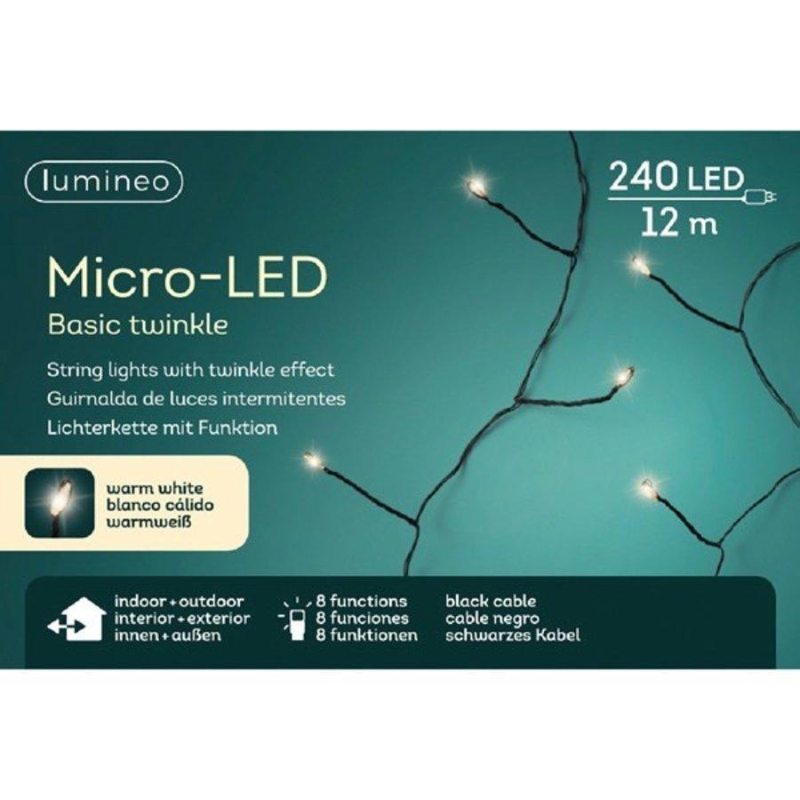micro LED basic Twinkle - black wire - Warm Wit-1