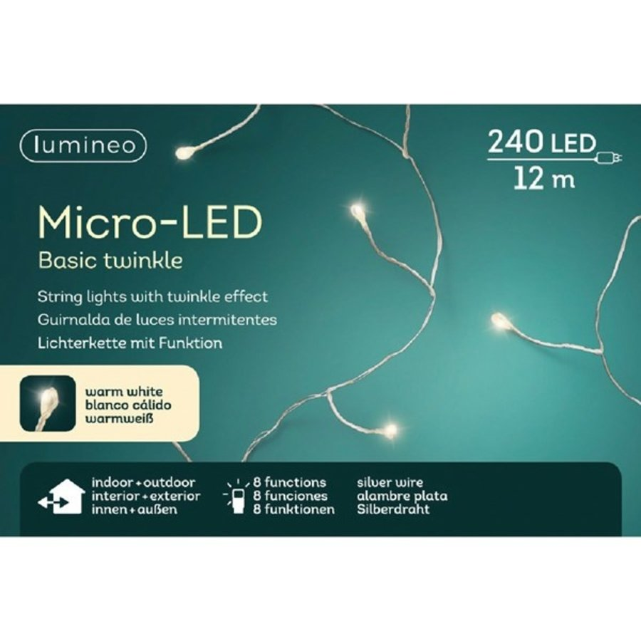 micro LED basic Twinkle - silver wire - Warm Wit-2