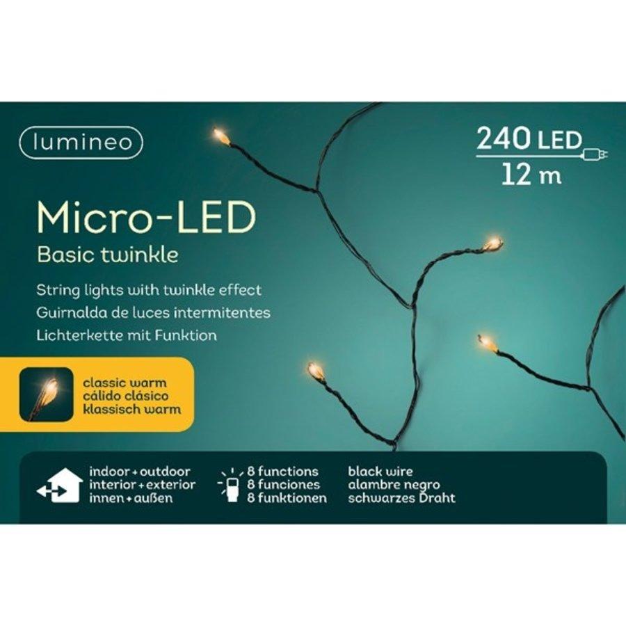 micro LED basic Twinkle - black wire - Klassiek Warm-2