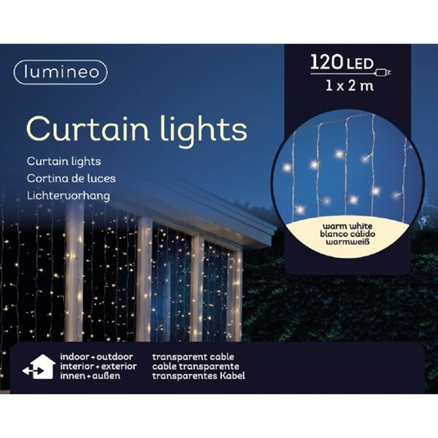 LED gordijnverlichting - transparant - Warm Wit-1
