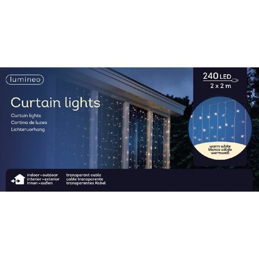 LED gordijnverlichting - transparant - Warm Wit-3
