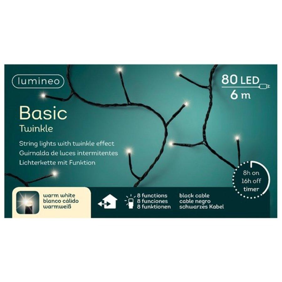 LED Basic Twinkle black cable - Warm Wit-6