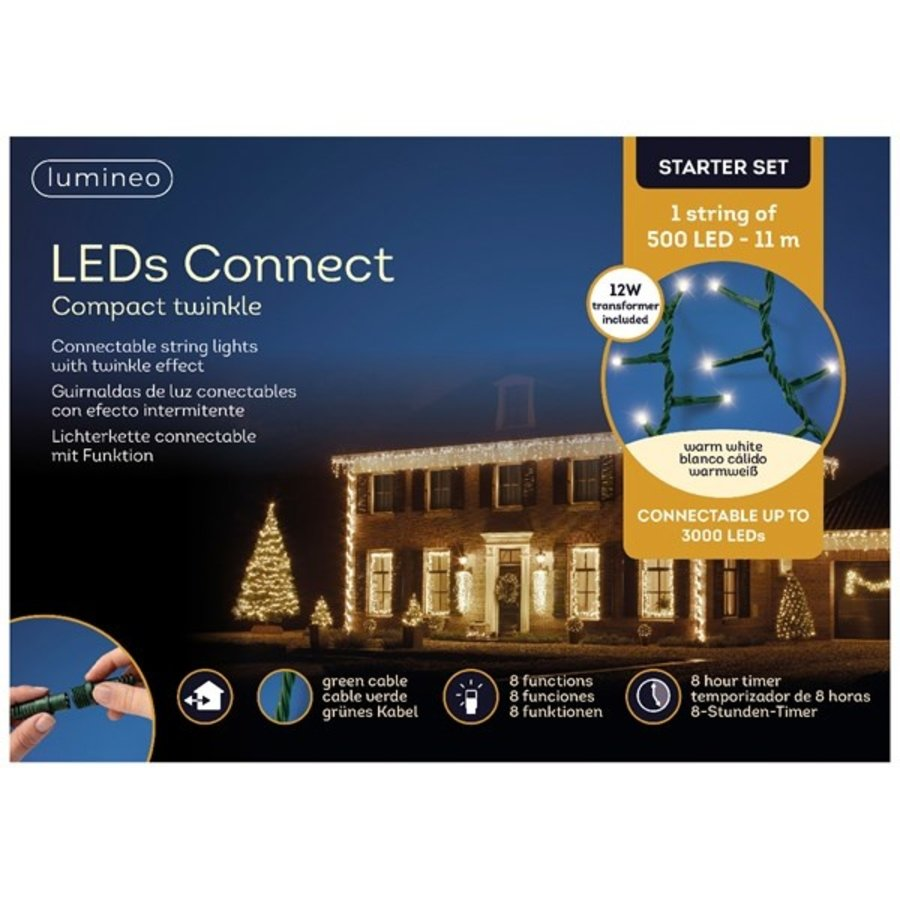 LED compact Twinkle - green cable - Warm Wit-2
