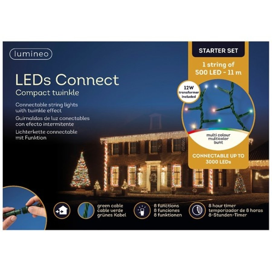 LED compact Twinkle - green cable - Multicolour-2
