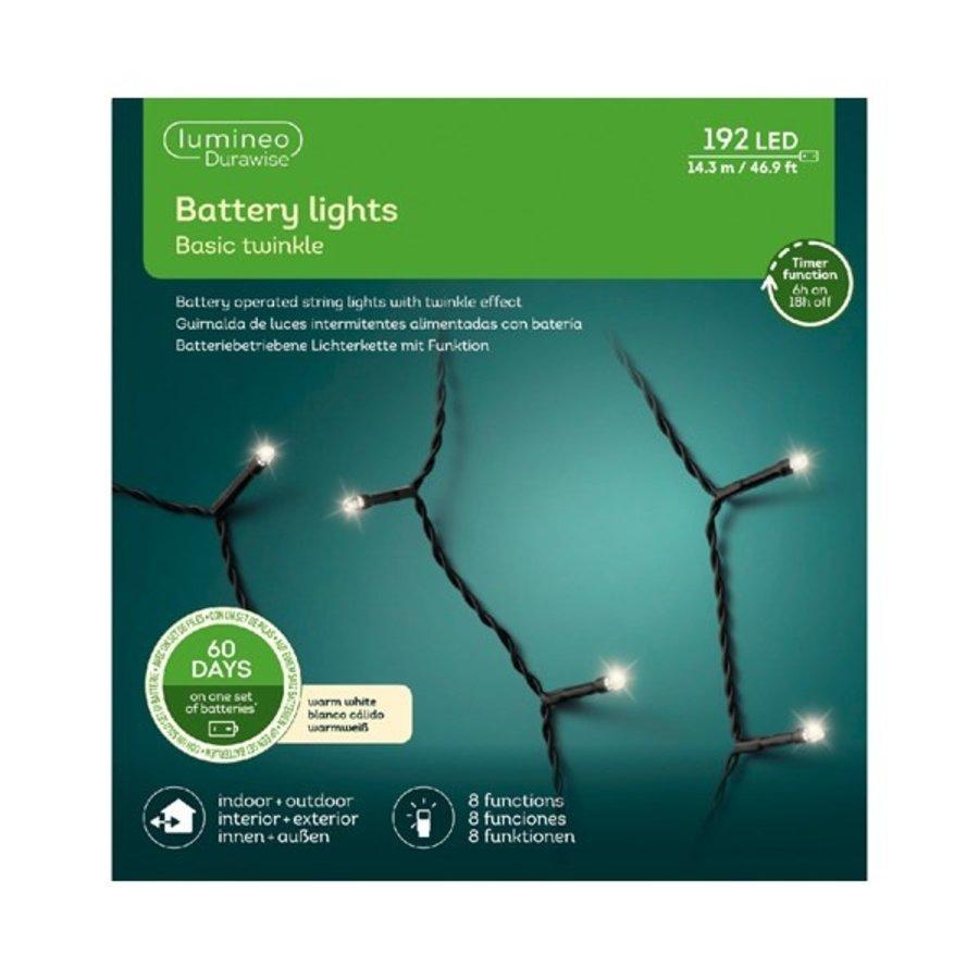 LED Durawise Twinkle - zwarte kabel - Warm Wit-4