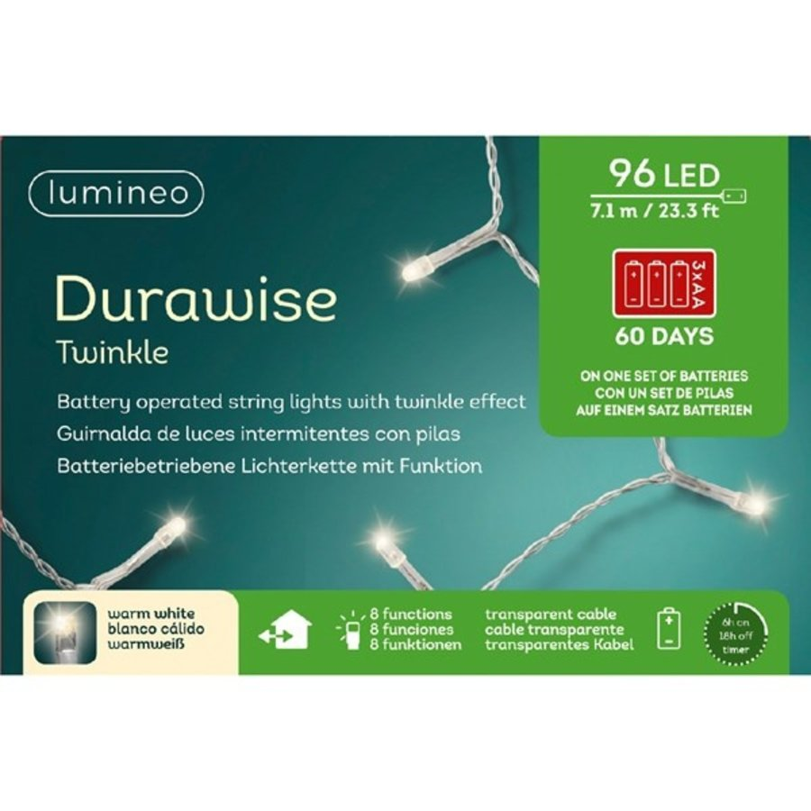 LED Durawise Twinkle - transparante kabel - Warm Wit-2