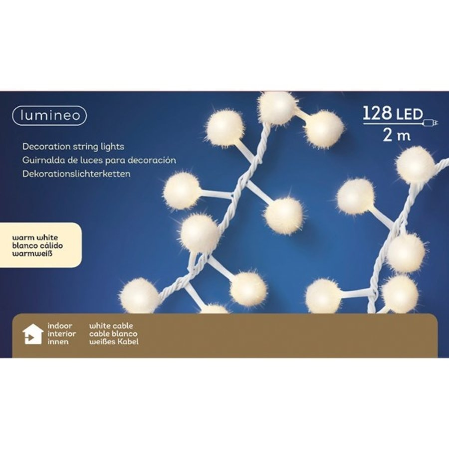 LED sneeuwbal cluster - witte kabel - Warm Wit-2