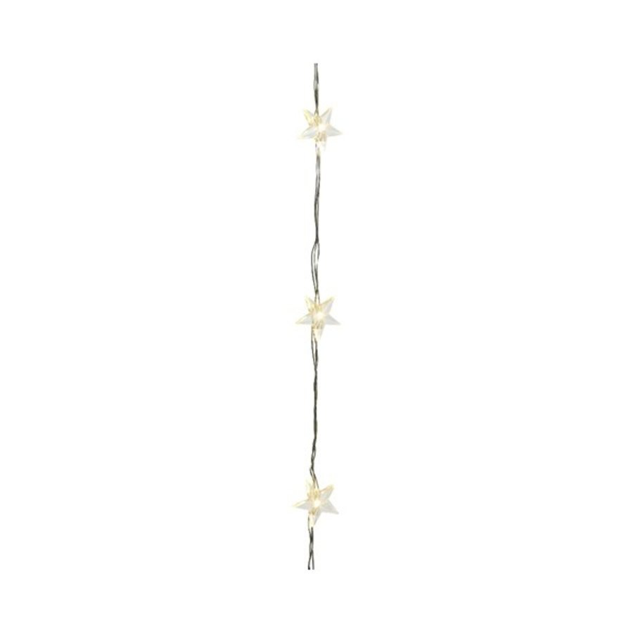 micro LED ster - silver wire - Warm Wit-2