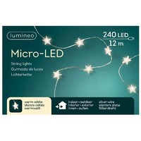 thumb-micro LED ster - silver wire - Warm Wit-3